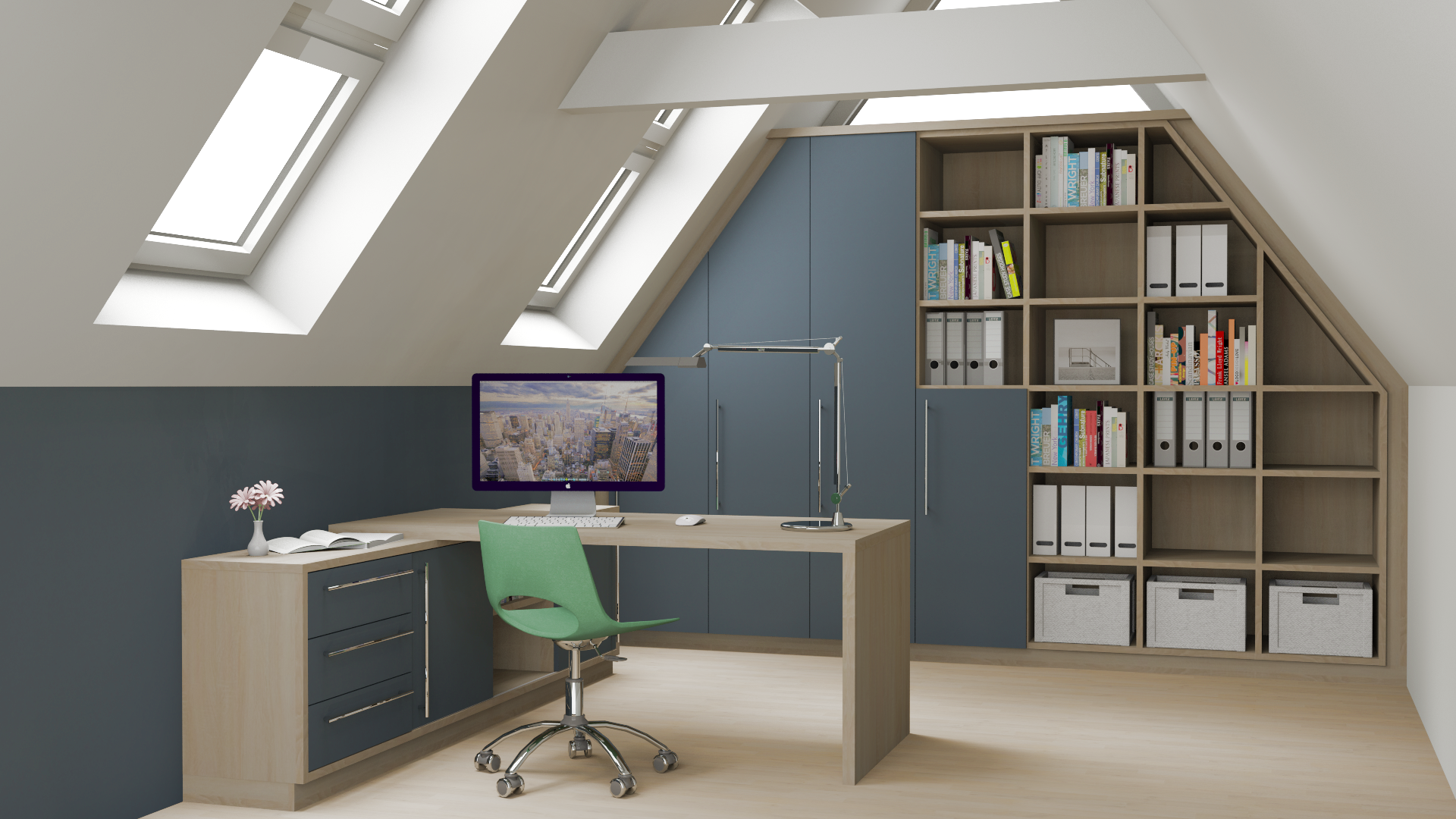 Arbeitszimmer design  Arbeitszimmer / Büro - Wohnwelten | Nordic Design Tischlerei GmbH ...